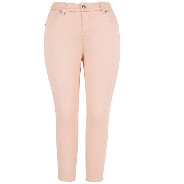 Melissa Mccarthy Seven7 Plus Pencil Jeans ($50) ❤ liked on Polyvore featuring plus size women's fashion, plus size clothing, plus size jeans, plus size, pink, plus size skinny jeans, pencil jeans, womens plus size jeans and pink skinny jeans