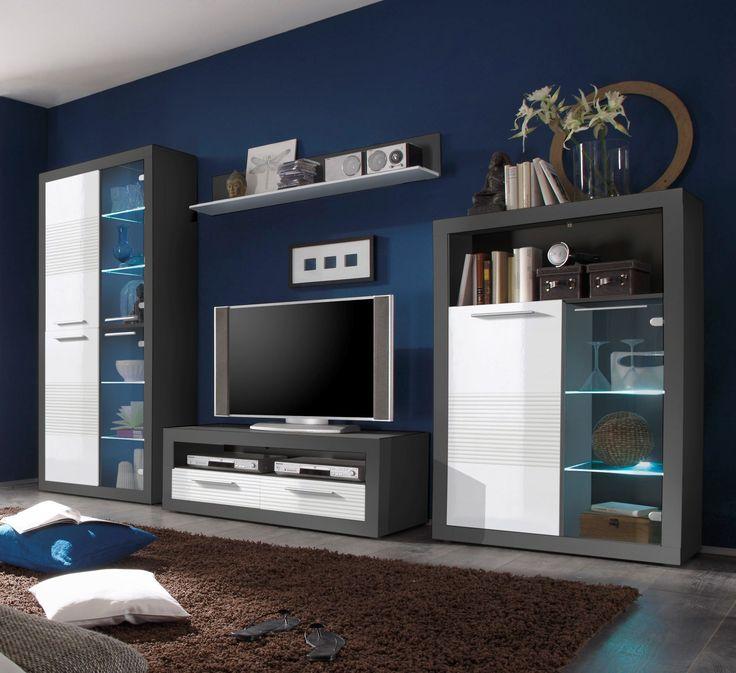 Best 10+ Wohnwand Weiss Ideas On Pinterest   Wohnzimmer-akzente ... Wohnzimmer Hochglanz Grau