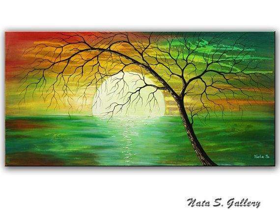 11 How To Paint A Beautiful Scenery Painting Sunrise Acrylic Landscape Painti Beautiful Scenery Paintings Beautiful Landscape Paintings Scenery Paintings
