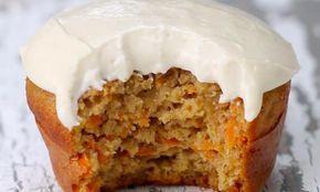 """Faible en gras et facile à faire, ces """"cupcakes"""" aux carottes sont hallucinants!"""