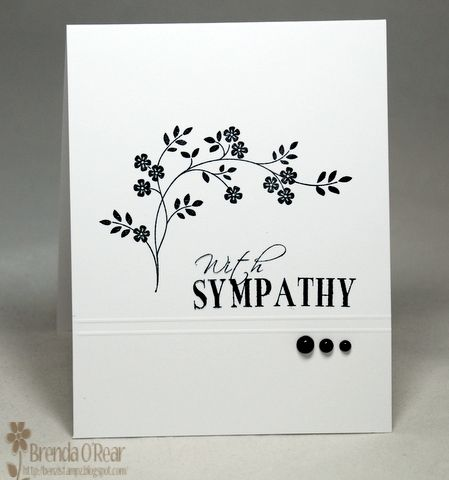 black and white sympathy card...very striking
