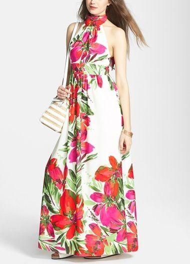 Trending - Floral print maxi dress.