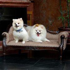 Mahogany Victorian Dog/Pet Sofa Bed