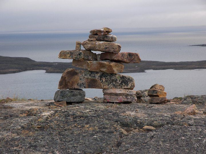 Inukshuk ~ Baffin Island in Iqaluit, Nunavut, Canada. Photo by David Idoris Boileau