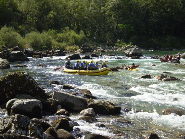 Slovenia - raft on the river Soča