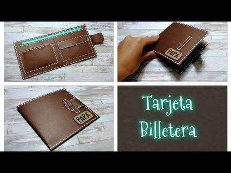 DIY // Tarjeta para el dia del padre en forma de billetera o cartera – YouTube