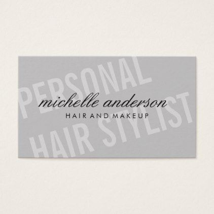 Large Font / Dynamic Business Card - stylist business card business cards cyo stylists customize personalize