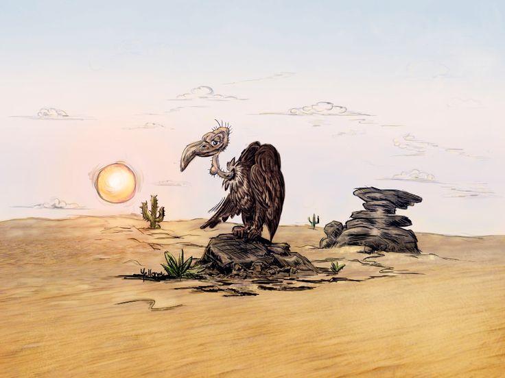 Vulture comic illustration by Yellonek at Willhorn.deviantart.com https://www.facebook.com/yellogfx/