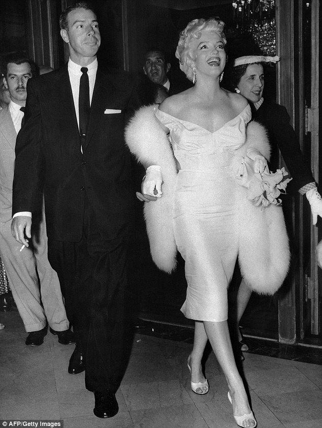 She left Los Angeles to escape being type cast and to get away from her broken marriage with Joe DiMaggio (pictured above with Monroe)