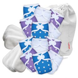 Pikapu newborn part time pack, 12 nappies plus accessories 2-6kg