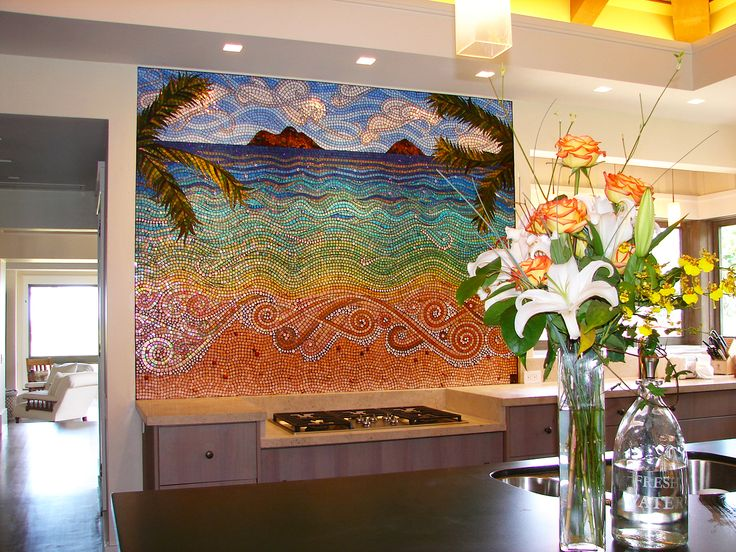Mokuluas Islands Mosaic by mosaic artist Dyanne Williams