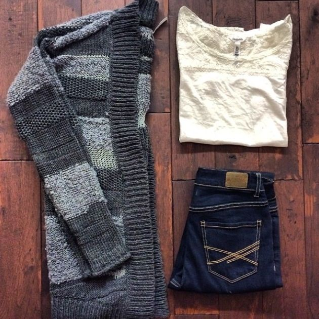 Big cardigan outfit from Aeropostale