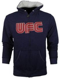 """Advertise your love of the UFC with the Billboard Zip Hoodie!  Stretch french terry  Jersey-lined hood  Cross-dye yarn  Vintage wash  """"UFC"""" lettering embroidered. REVIEW: """"The UFC is the best in the business when it comes to delivary and production, and now we see this same model of perfection in their clothing line""""."""
