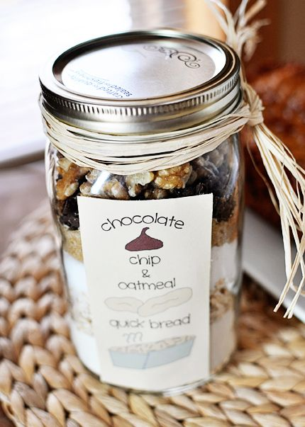Oatmeal Chocolate Chip Quick Bread {In a Jar!} | Mel's Kitchen Cafe