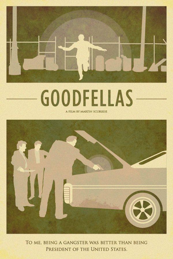Goodfellas - Arty mimialmist movie poster #GangsterMovie #GangsterFlick