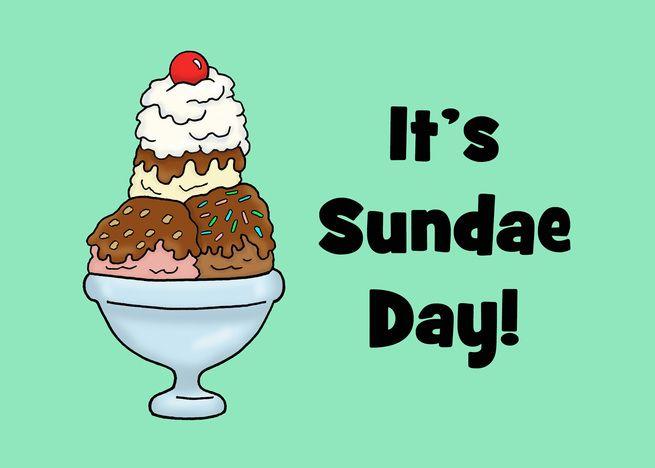 Cute National Sundae Day Card With Cartoon Ice Cream Sundae Card Ad Sponsored Sundae Day Cute National Ice Cream Sundae Sundae Ice Cream
