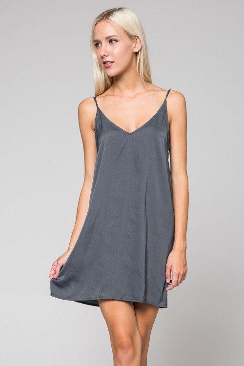 Perfect Illusion Satin Slip Dress #Slip-Dress