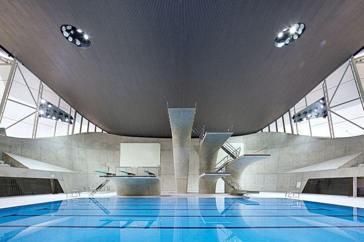 Zaha Hadid's Olympic Aquatics Centre in London.: Olympic Aquatic, London Olympic, London 2012, Zaha Hadid Architects, Aquatic Centre, Swim Pools, 2012 Olympic, London Aquatic, Aquatic Center