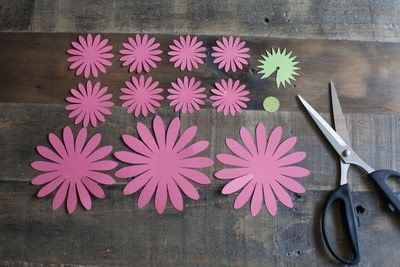 How to make a paper flower. Make Your Own Paper Gerbera Daisies - Step 1