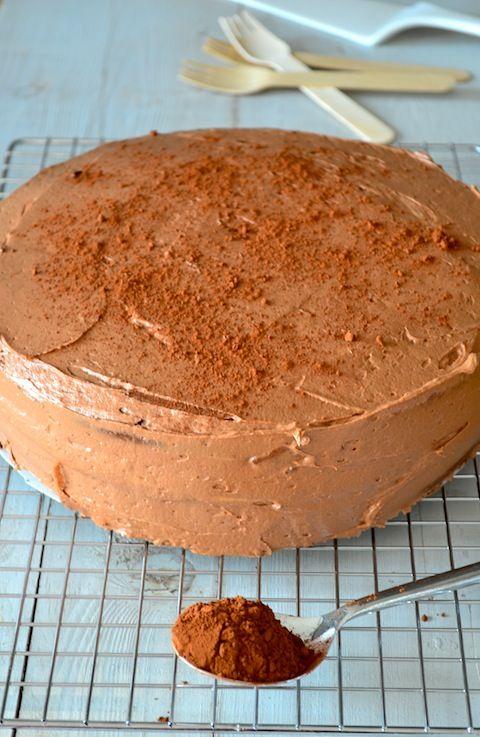 Dubbele chocoladetaart - Uit Paulines Keuken
