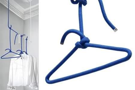 Rope coat hanger