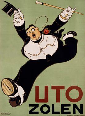 Uto Zolen Shoe Poster by Charles Verschuuren, Jr.