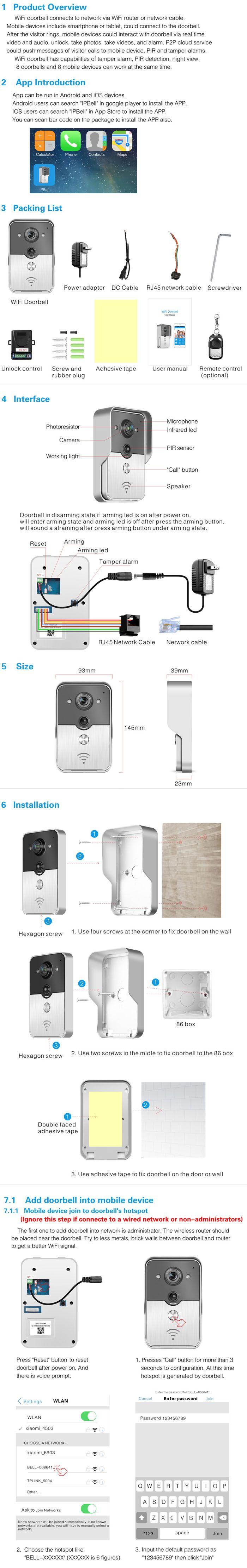 (1 set) WIFI wireless Video door phone Night version MINI camera Video Intercom support IOS&Andorid APPS Control Smart Home , https://myalphastore.com/products/1-set-wifi-wireless-video-door-phone-night-version-mini-camera-video-intercom-support-iosandorid-apps-control-smart-home/,