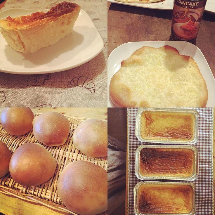 #デザートピザ は #チーズピザ に #waldenfarms をはちみつ代わりに 甘じょっぱくておいしい  #丸パン #チーズケーキ 久しぶりに焼きました\( ˆoˆ )/ #dinner #  #低糖質 #糖質オフ #糖質制限 #ローカーボ #MEC食 #LCHP #lowcarb #lapi低糖質ごはん by lapinpe