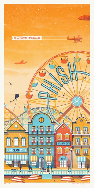 "Somehow, I don't imagine the phish audience (who I imagine as very ""relaxed"") going to a amusement park"