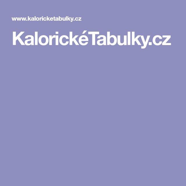 KalorickéTabulky.cz