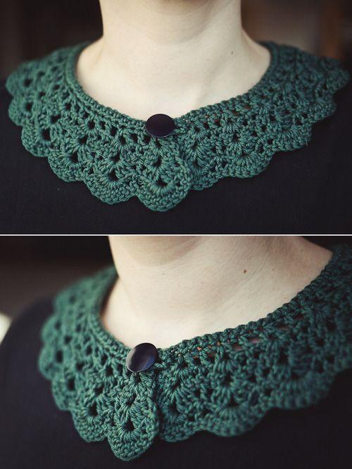 diy crochet collar. :)