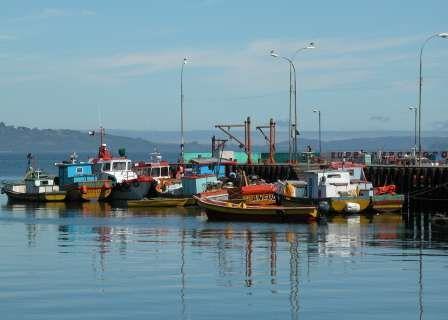 Ancud Harbor in Chiloé Island