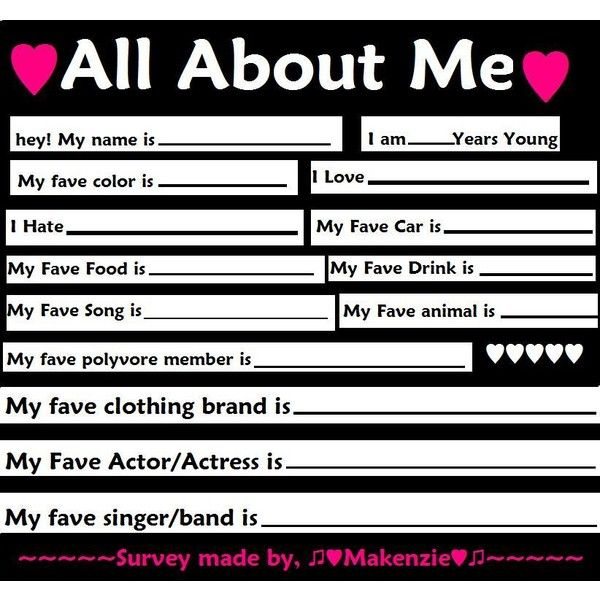 all about me questions - photo #9