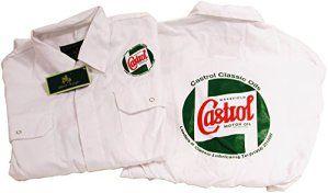 Castrol Blanc Classique mécanicien Salopette/Combinaison de Chaudière avec logo avant et arrière
