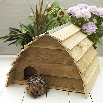 Wooden Hedgehog House by Wudwerx. On Etsy, NotOnTheHighStreet & other places