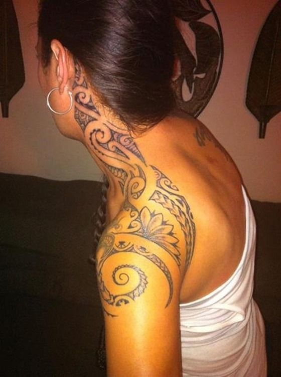 Amazing Shoulder Tribal Tattoos for Women
