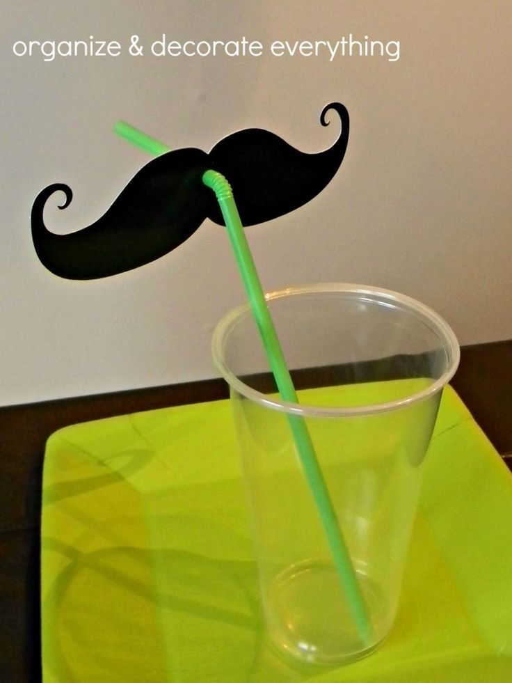 For Mustache Birthday party!