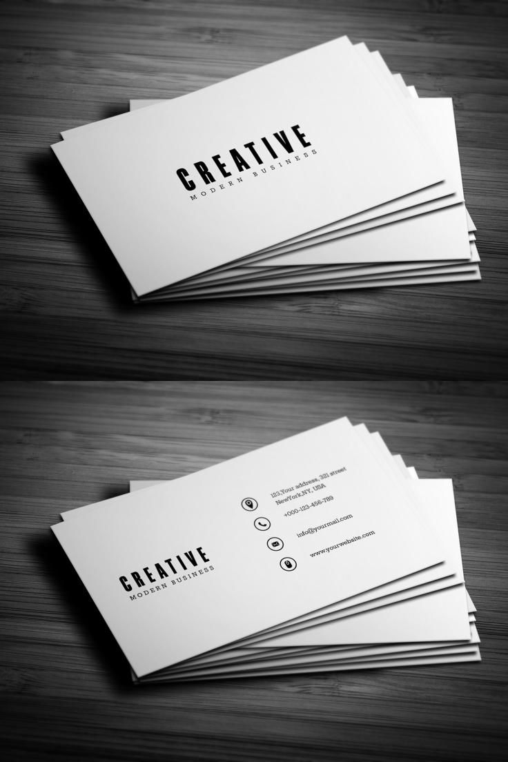 52 best Clean / Elegant Business Cards images on Pinterest ...