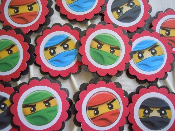 Ninjago Lego Ninjago Cupcake Toppers