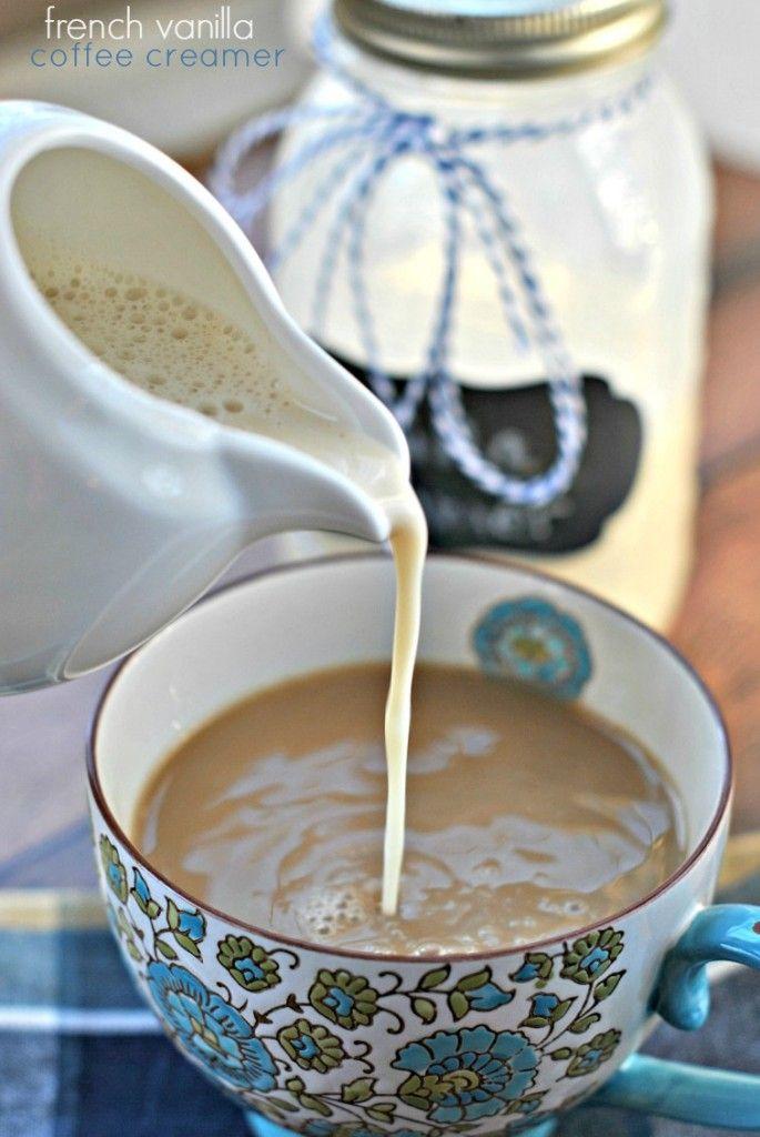 French Vanilla Coffee Creamer. Homemade using only 3 ingredients: condensed milk, vanilla and milk!