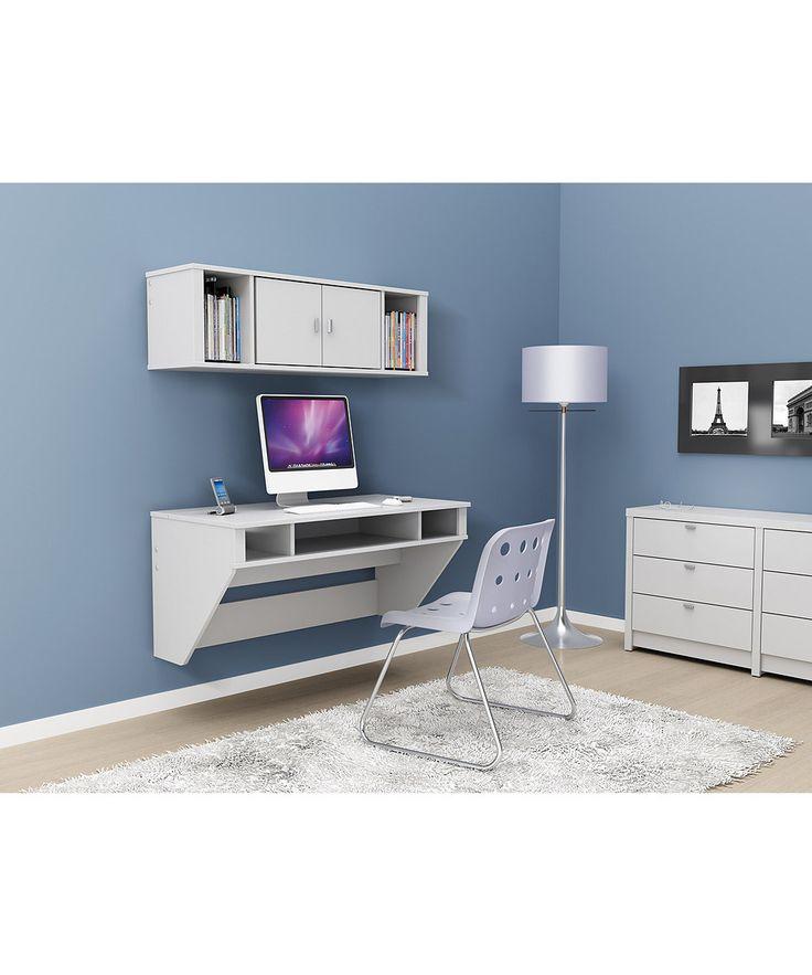 White Designer Floating Wall Desk