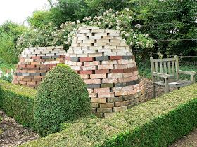 Victorian, brick compost bin:  Barnsdale Gardens