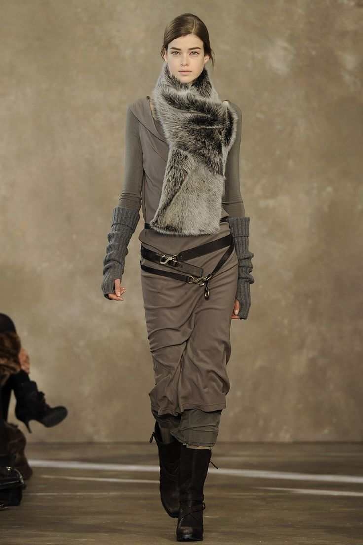 Donna Karan textures in gray and leather * but a less violent version without the fur and leather