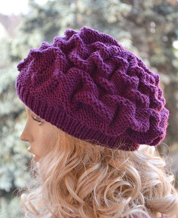 Women's Hat Winter Women Hat Slouchy Beanie Slouchy by DosiakStyle