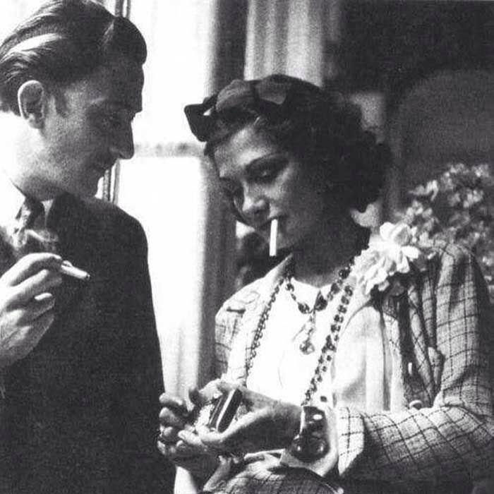 Salvador Dali with Coco Chanel