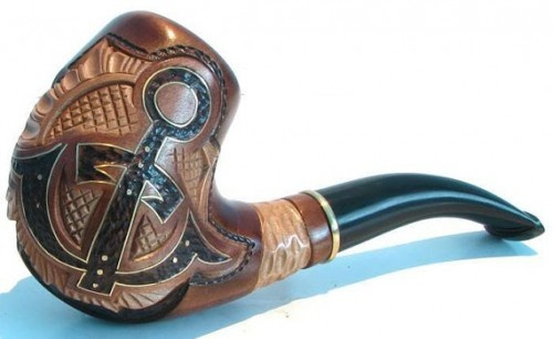 Anchor pipeParties Gift, Carvings Tobacco, Smoking Pipes, Hands Carvings, Free Gift, Anchors Pipe, Cool Pipe, Bamf Pipe, Smoke Pipe