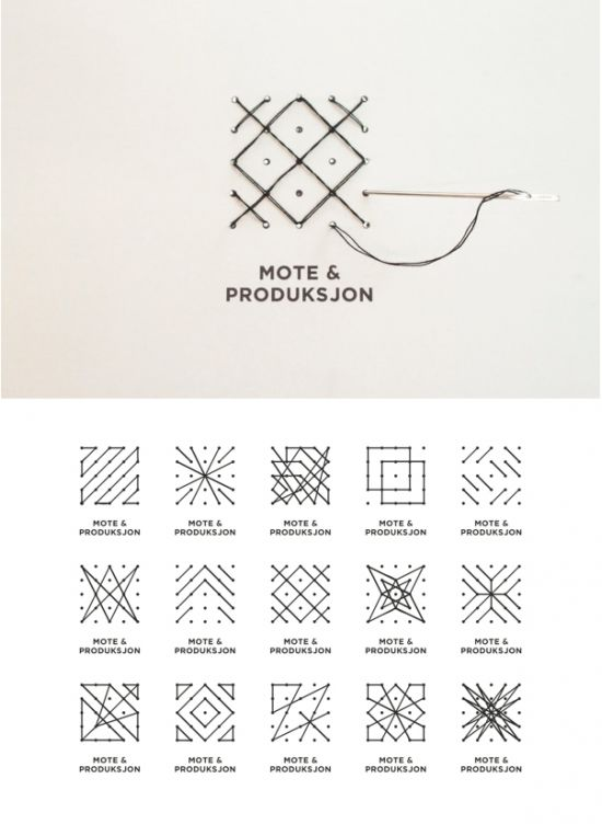 Mote & Produksjon  ::  A perfect logo for a fashion college, which you stitch yourself.