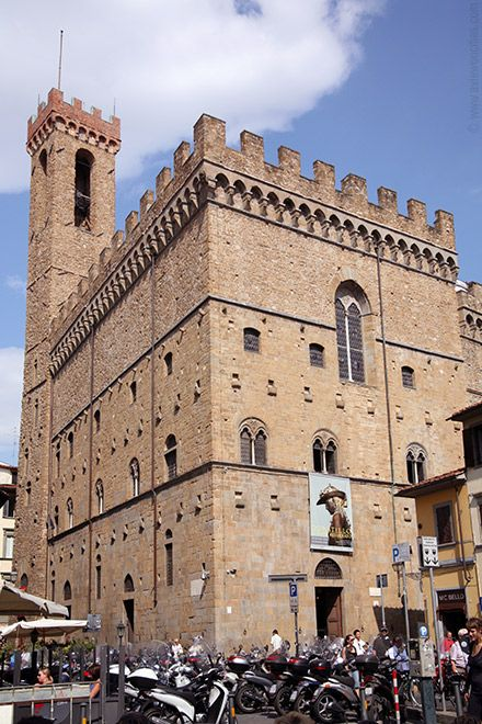The Bargello. Oldest palace in Florence. It has an amazing art collection and beautifully decorated rooms.