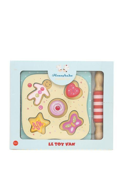 Le Toy Van, Honeybake Cookie Set. Ahşap yemek takımı oyuncak seti. 31x26,5 cm. 18 ay ve üzeri için geçerlidir
