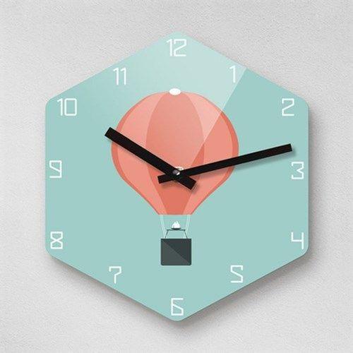 리플렉스 6각 열기구 인테리어 무소음벽시계 H-AIR255 // 36,000